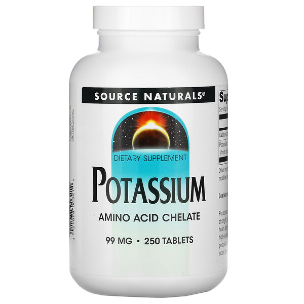 Source Naturals, Potassium, 99 mg, 250 Tablets