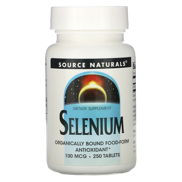 Source Naturals, Selenium, 100 mcg, 250 Tablets