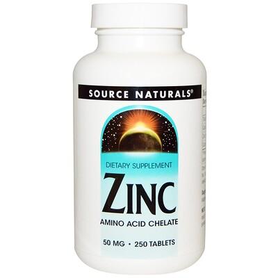 Купить Source Naturals Цинк, 50 мг, 250 таблеток
