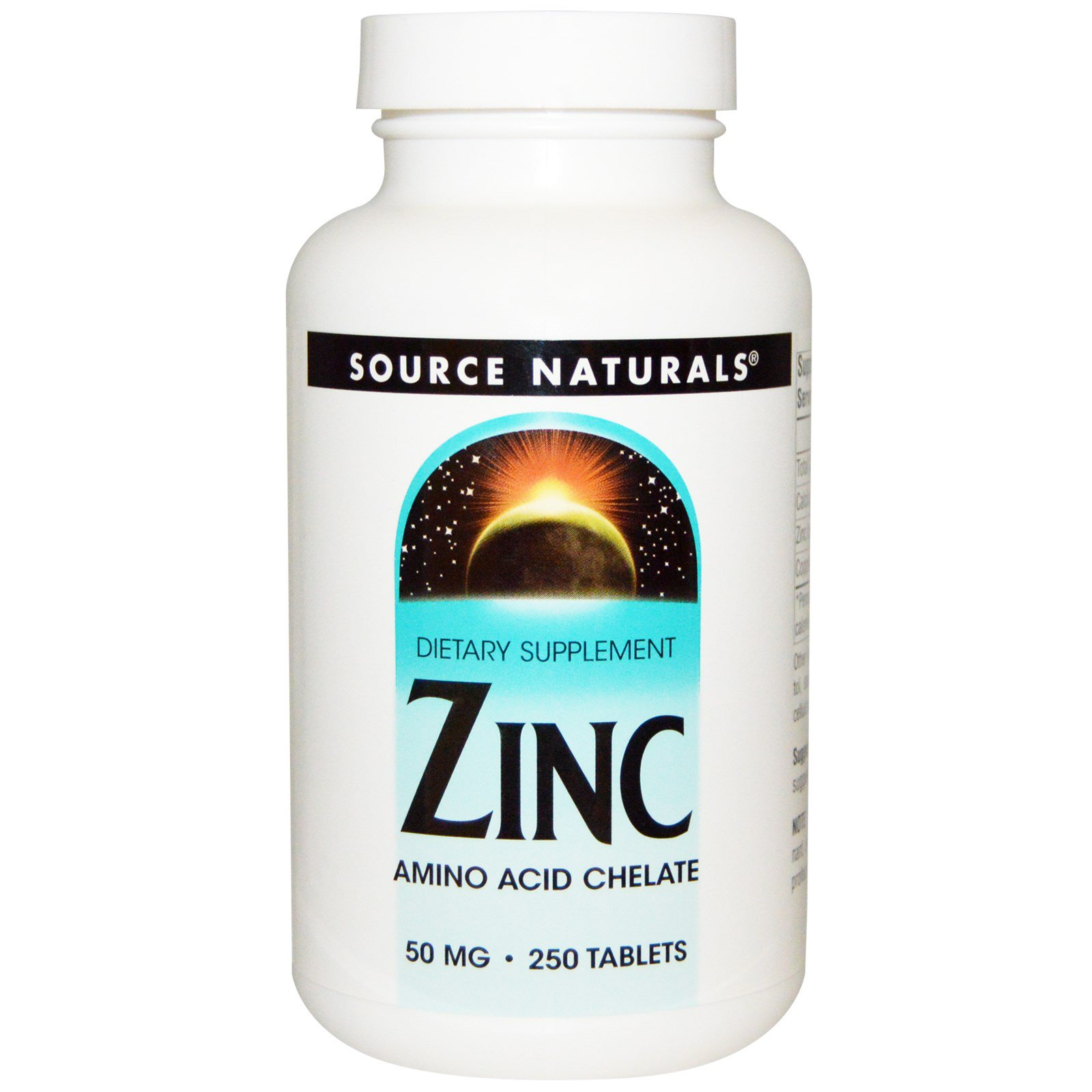 Source Naturals, Цинк, 50 мг, 250 таблеток