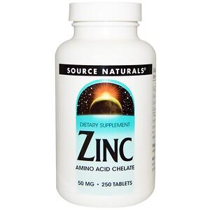 Сорс Начэралс, Zinc, 50 mg, 250 Tablets отзывы