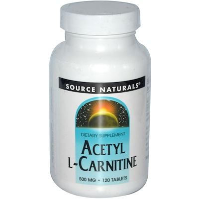 Ацетил L-карнитин, 500 мг, 120 таблеток ацетил l карнитин 500 мг 60 растительных капсул