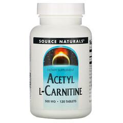 Source Naturals, 乙醯L-肉堿膳食補充片,500毫克,120片