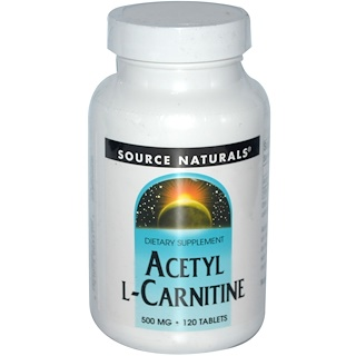 Source Naturals, Acetyl L-Carnitin, 500 mg, 120 Tabletten
