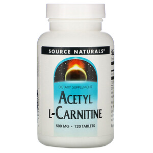 Сорс Начэралс, Acetyl L-Carnitine, 500 mg, 120 Tablets отзывы покупателей