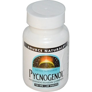 Source Naturals, Pycnogenol, 100 mg, 60 Tabletten