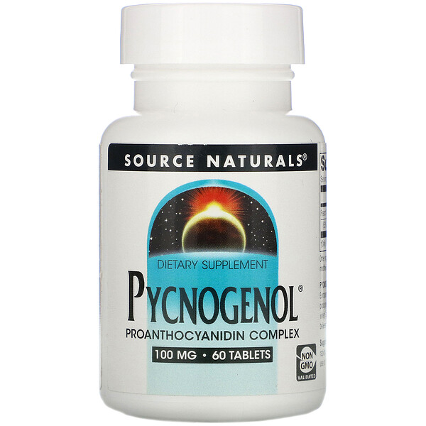 Source Naturals, Pycnogenol, 100 mg, 60 Tablets