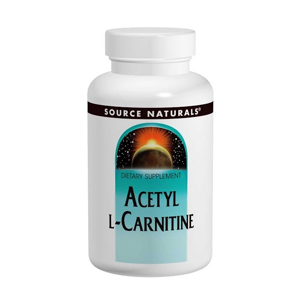 Source Naturals, Acetyl L-Carnitine, 250 mg, 120 Tablets (Discontinued Item)