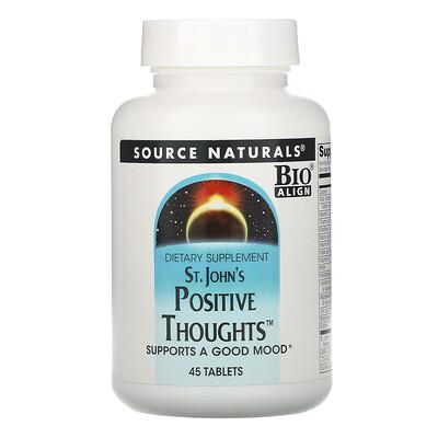 Source Naturals Зверобой «Положительные мысли», 45 таблеток