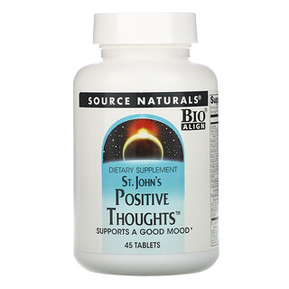 Source Naturals, St. John's Positive Thoughts 情緒支持補充劑,45 片