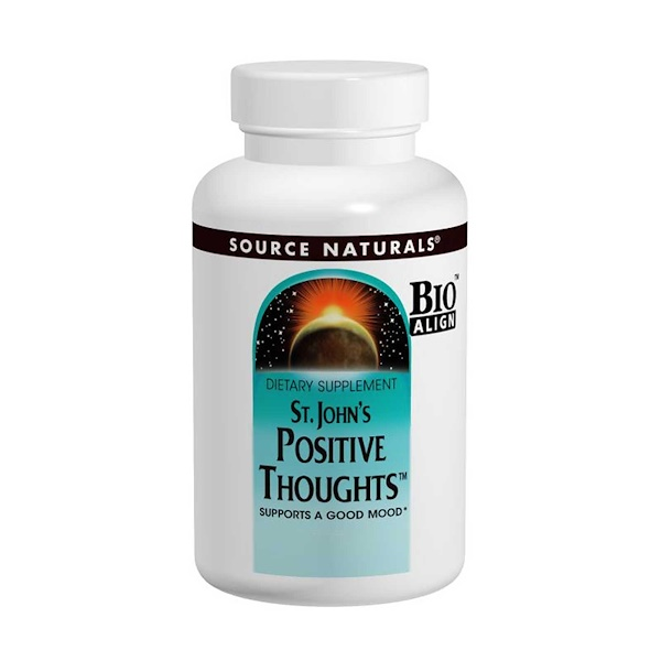 Source Naturals, St、 John's Positive Thoughts, 45 片