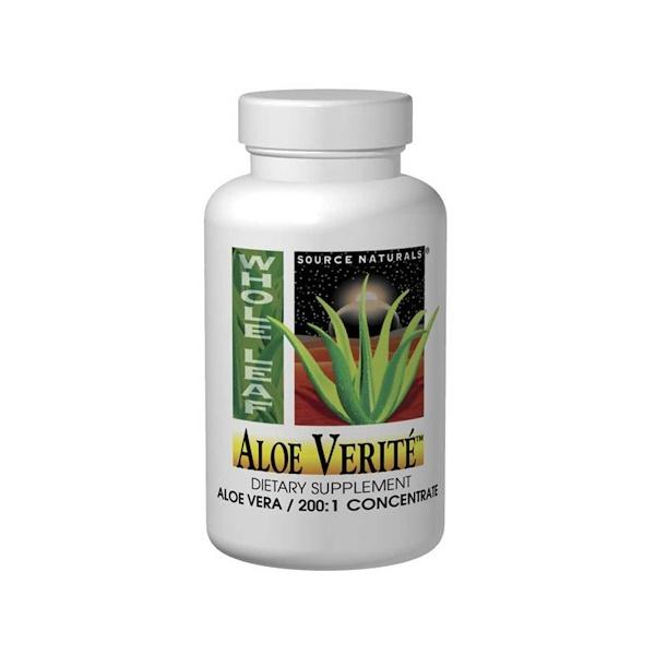 Source Naturals, Aloe Verite, 200 mg, 60 Tablets (Discontinued Item)