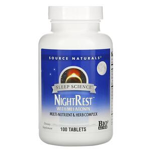 Source Naturals スリープサイエンス メラトニン配合 ナイトレスト 100粒