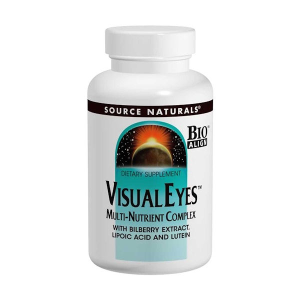 Source Naturals, Visual Eyes, Multi-Nutrient Complex, 90 Tablets