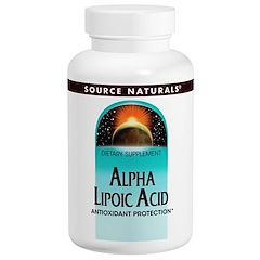 Source Naturals, Alpha Lipoic Acid, 200 mg, 120 Tablets