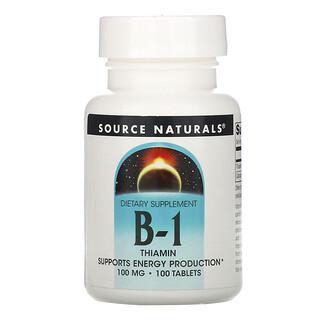 Source Naturals, B-1, Thiamin, 100 mg, 100 Tablets