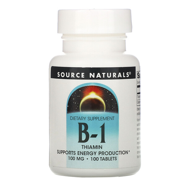 Source Naturals, B-1, Thiamin, 100 mg, 100 Tablets