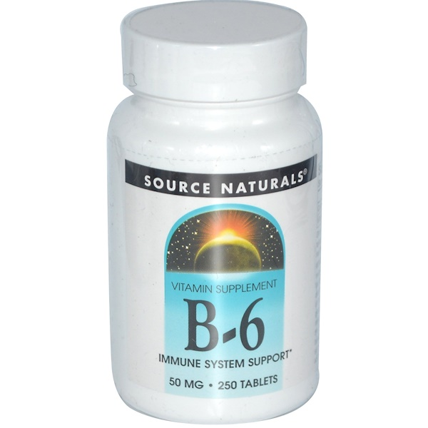 Source Naturals, B-6, 50 mg, 250 Tablets (Discontinued Item)