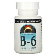 Source Naturals, B-6,100 毫克,100 片