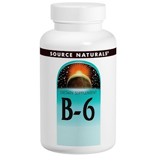 Source Naturals, Vitamin B-6, 100 mg, 100 Tablets