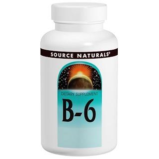 Source Naturals, 維他命 B-6,100毫克,100片