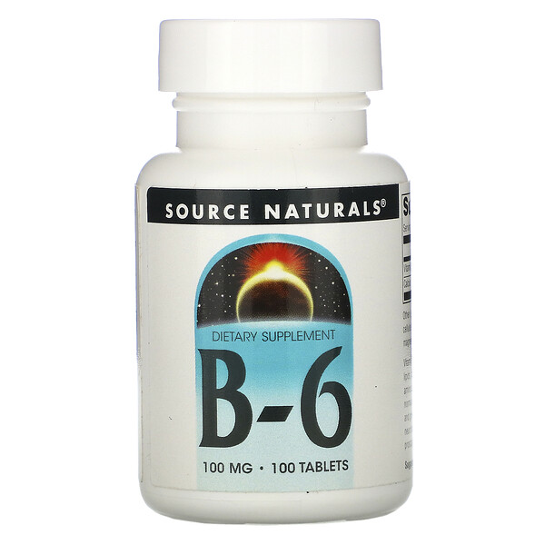 Source Naturals, B-6, 100 mg, 100 Tablets