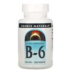 Source Naturals, B-6,100 毫克,250 片