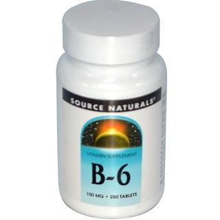 Source Naturals, 維生素B-6片,100毫克,250片