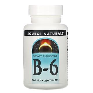 Source Naturals, ب-6، 100 ملغم، 250 حبة