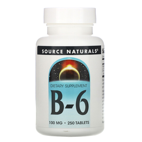 Source Naturals, B-6, 100 mg, 250 Tablets