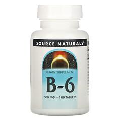 Source Naturals, B-6,500 毫克,100 片
