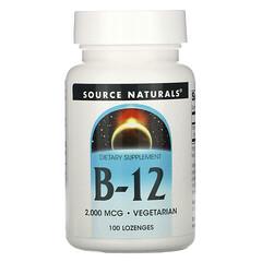 Source Naturals, B-12, 2,000 mcg, 100 Lozenges