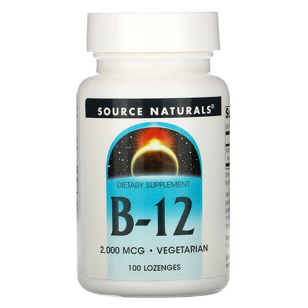 Source Naturals, B-12, 2,000 mcg, 100 Lozenges