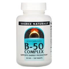 Source Naturals, 複合維生素B-50片,50毫克,100片