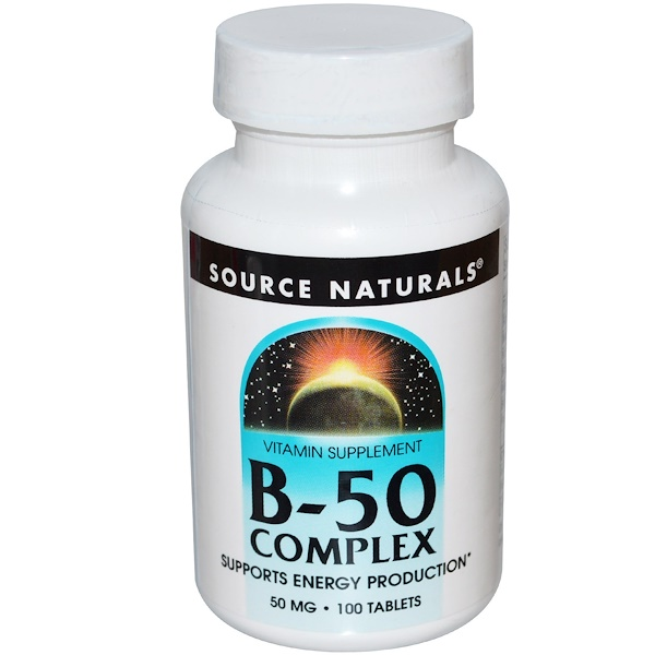 Source Naturals, Complejo B-50, 50 mg, 100 Tabletas