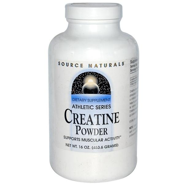 Source Naturals, Creatine Powder, Athletic Series, 16 oz (453.6 g) (Discontinued Item)
