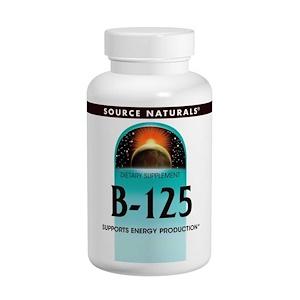 Сорс Начэралс, B-125, 125 mg, 90 Tablets отзывы покупателей