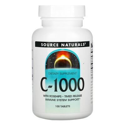 Source Naturals C-1000, 100 таблеток  - купить со скидкой