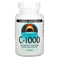 Source Naturals, C-1000,100 片