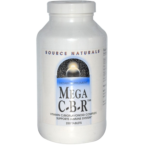 Source Naturals, Mega C-B-R, 250 Tablets (Discontinued Item)