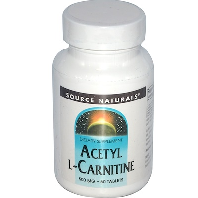 Ацетил-L-карнитин, 500 мг, 60 таблеток ацетил l карнитин 500 мг 60 растительных капсул