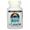 Source Naturals, Acetil L-Carnitina, 500 mg, 60 tabletas