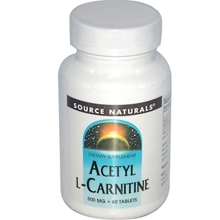 Source Naturals, Acetyl L-Carnitin, 500 mg, 60 Tabletten
