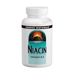 Source Naturals, Niacin, 100 mg, 250 Tablets