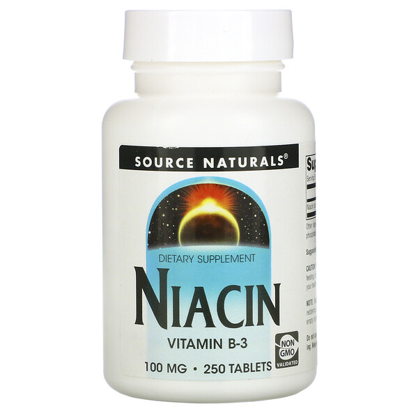 Niacin, 100 mg, 250 Tablets