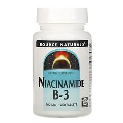 Source Naturals, 煙醯胺 B-3,100 毫克,250 片