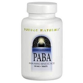 Source Naturals, PABA, 100 mg, 250 Tablets