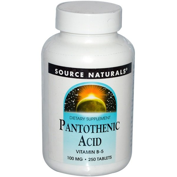 Source Naturals, Pantothenic Acid, 100 mg, 250 Tablets