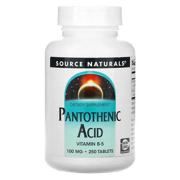 Pantothenic Acid, 100 mg, 250 Tablets