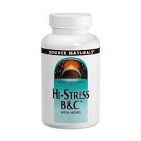 Source Naturals, 하이 스트레스 B&C, 120 타블렛